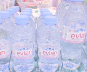 water, evian, and blue image