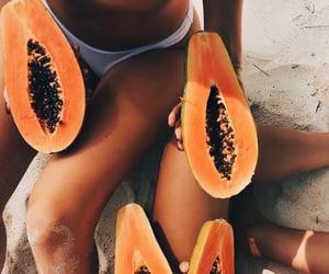 beach, summer mood, and FRUiTS image