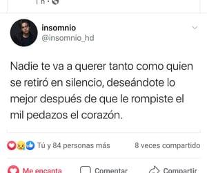 corazón roto, estúpidas tonterías, and publicación de facebook image
