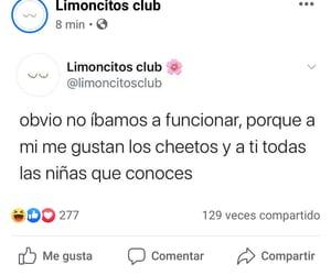 fuckboy, publicación de facebook, and cheetos image