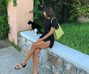 nature, woman, and black outfit image