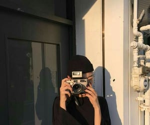 girl, camera, and aesthetic image