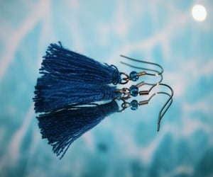 blue, spin, and earrings image