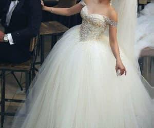 robe de mariée, crystal wedding dresses, and ball gown wedding dress image