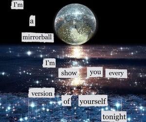 folklore, Lyrics, and mirrorball image