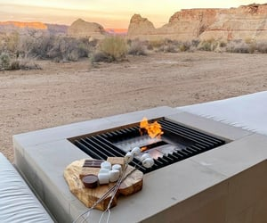 fire, luxury, and mountains image