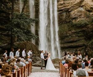 marriage, waterfall, and wedding image