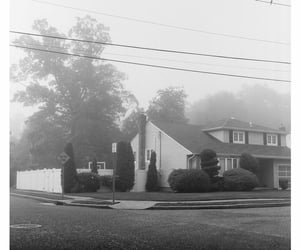 b&w, black and white, and house image