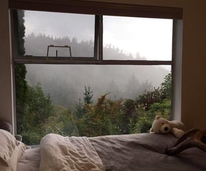 bed, nature, and aesthetic image