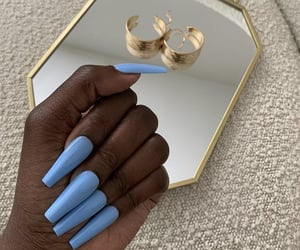 aesthetic, nail designs, and blue nails image