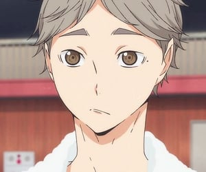 anime, haikyuu, and sugawara image
