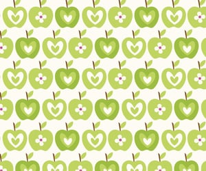 green apple, scrapbook, and pattern image