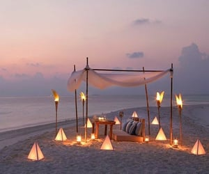 beach, light, and romantic image