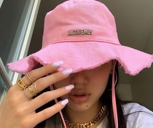 pink, hat, and fashion image