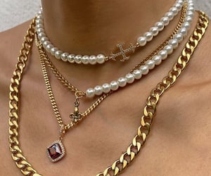 gold, pearls, and jewelry image