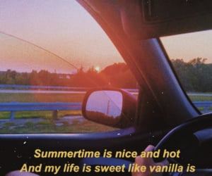 aesthetic, car, and Lyrics image