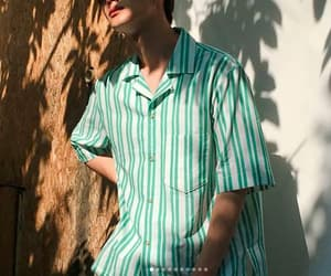 button up, mens fashion, and korean boy image