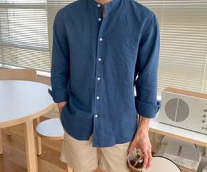 style, button up, and collared shirt image