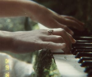 piano, Taylor Swift, and floklore image