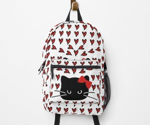 backpack, bag, and cat image