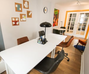working space, architecture, and interior design image