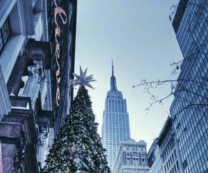 christmas, new york, and christmas tree image