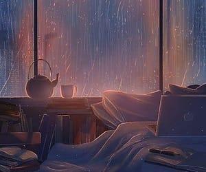 красиво, иллюстрация, and дождь image