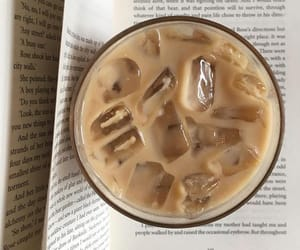 book, coffee, and ice image