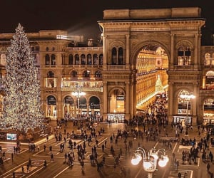 lights, city, and italy image
