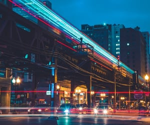 city lights and late night image