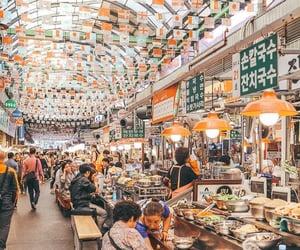 korea, market, and seoul image