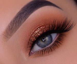 makeup, glitter, and eyes image