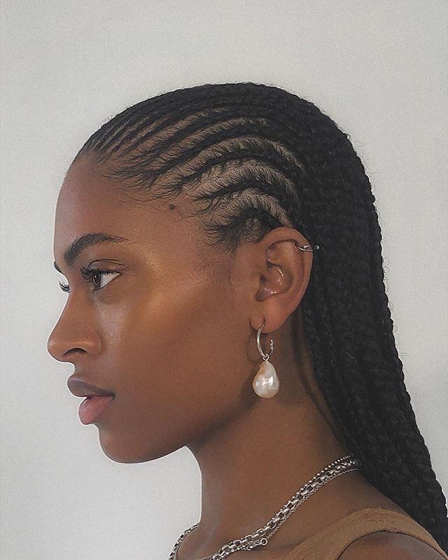 hair, cornrows, and melanin image