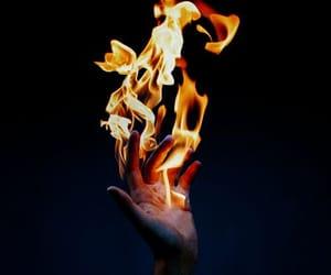 огонь, красиво, and рука image