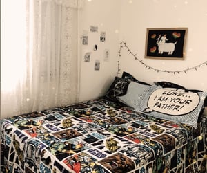 art, bedroom, and home decor image