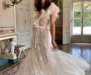 beautiful, glamour, and wedding image