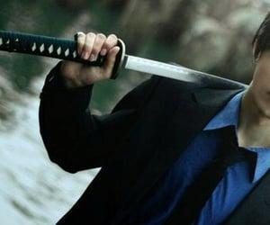 blue, cosplay, and katana image