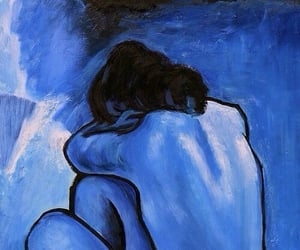 blue, picasso, and blue nude image