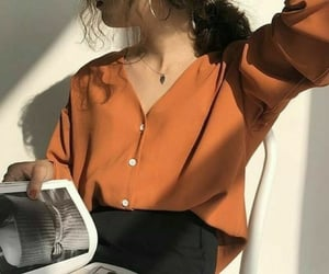 casual, orange, and clothes image