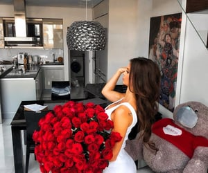 flowers, luxury, and woman image
