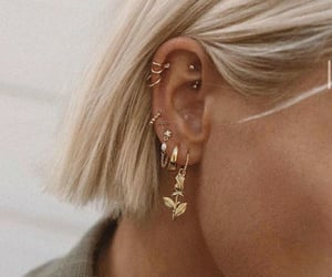 blonde and earrings image
