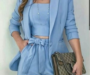 blue, classy, and fashion image