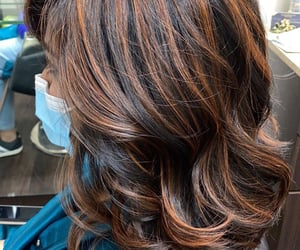 brown, curls, and color image