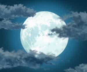 anime, full moon, and gintama image
