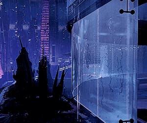 anime, city, and rain image