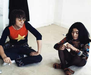 couple, Yoko Ono, and interview image