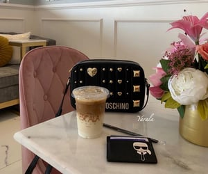 coffee, fashion, and flower image
