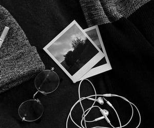aesthetic, black, and polaroid image
