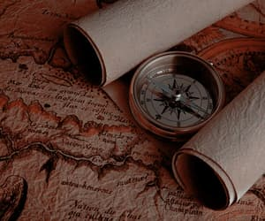 compass and map image