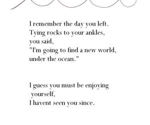 quotes, ocean, and sad image